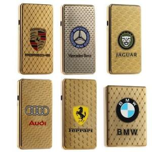 High quality USB lighter electric With Car Logo ,, wind proof lighter Rechargeable farmless lighter with retail box free