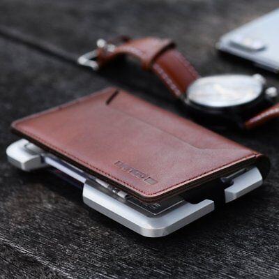 Dango D01 Dapper BiFold Wallet (Made in USA)-  Black / Brown / Green ()
