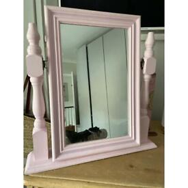 Painted dressing table mirror