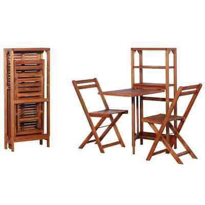 Garden Furniture - vidaXL Solid Acacia Wood Bistro Set 3 Pieces Foldable Outdoor Garden Furniture✓