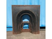 Antique Cast Iron Fireplace Fire Grate / Vintage Fire Place Fire surround retro