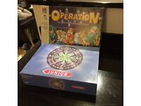 2 childrens games - operation and junior who wants to be a millionaire