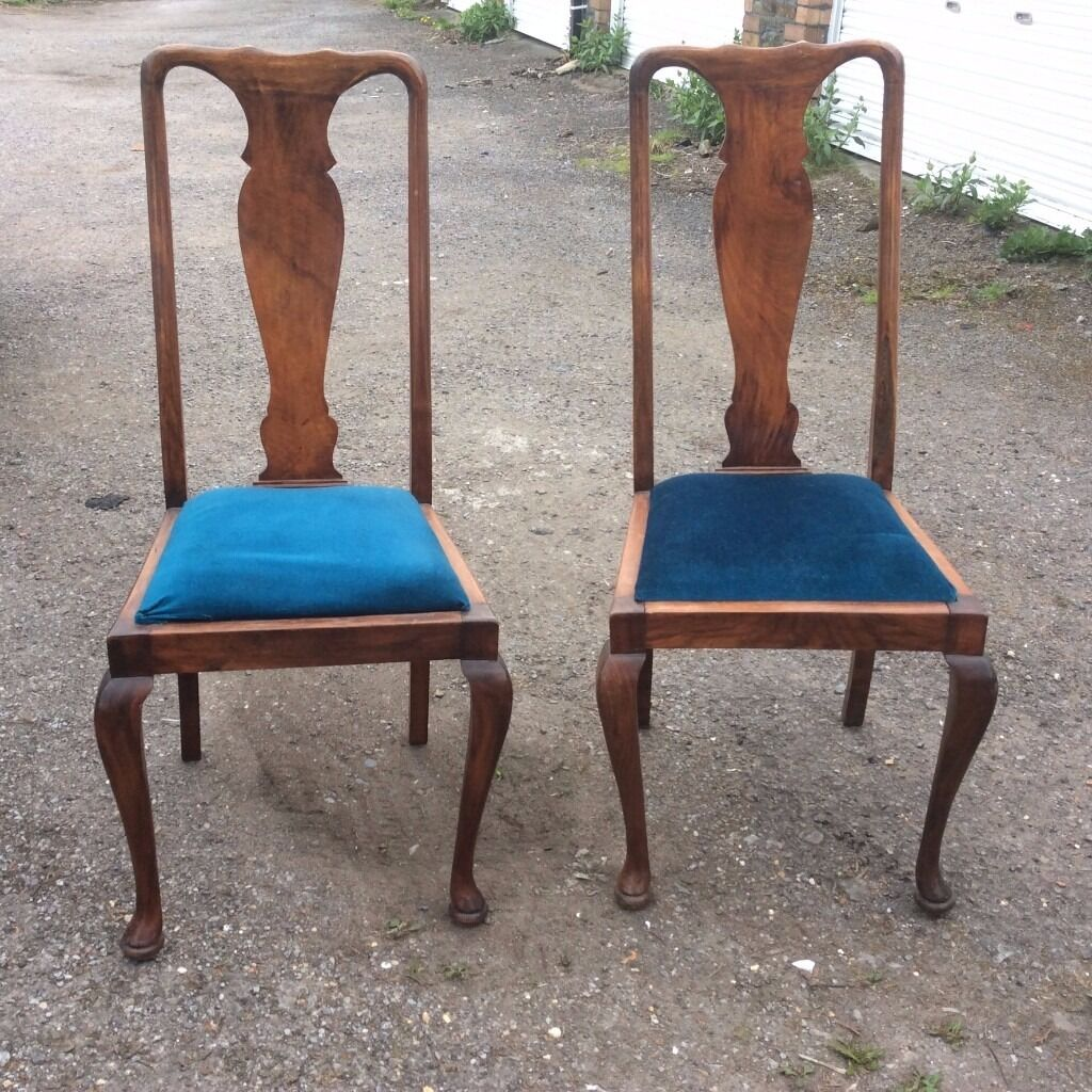 Pair of Queen Anne style Hall/Dinning Chairs