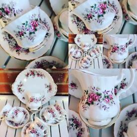 Royal Albert bone china tea set - Lavender Rose