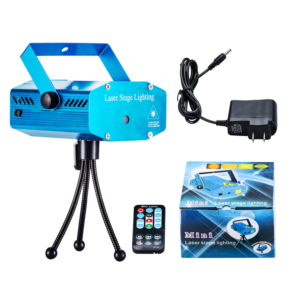 Hot Mini Projector R&G DJ Disco Stage KTV Show Party Laser Light Lamp +Remote
