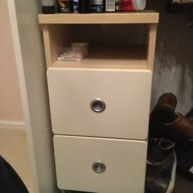 Bedside Unit & Small Lamp
