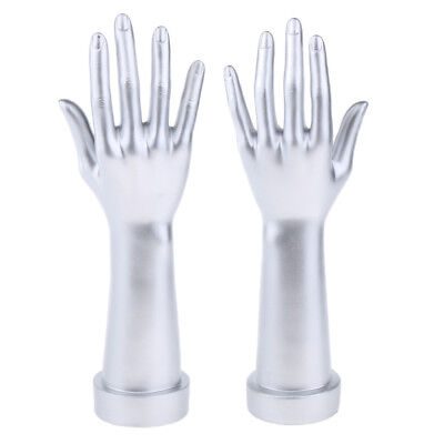 New 1 Pair Mannequin Hand Arm Display Base Female Gloves Jewelry Model Stand