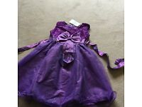 Girls New Purple Party Dress age 5/6