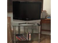 "Samsung 32"" flat screen TV and stand"