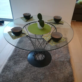 Retro Wire Glass Topped Table