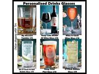 Personalised Drinks Glasses - Prices On Picture
