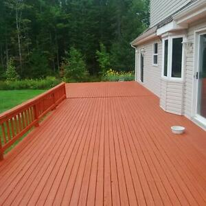 Deck - Fence staining and repair with the best guarantees