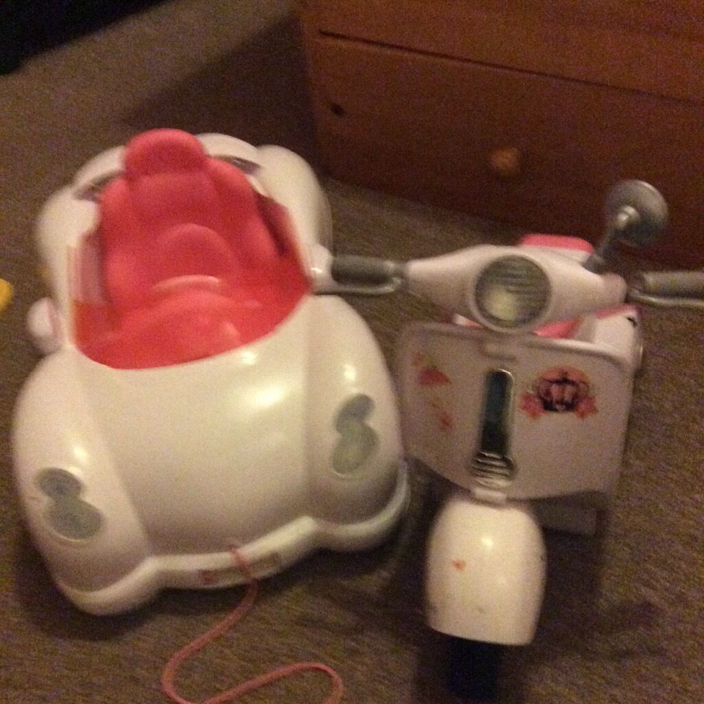 Baby born car and scooter