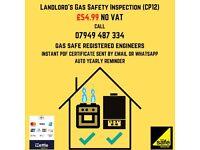 LANDLORD GAS Certificate cp12, boiler, cooker install, plumbing, power flush, leaks