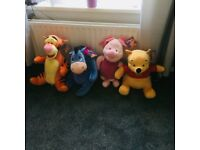 Winnie the pooh set of soft toys