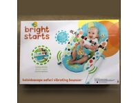 BRAND NEW Bright Starts Kaleidoscope Safari Vibrating Bouncer £15