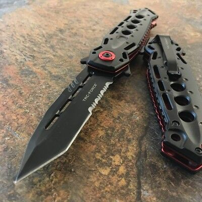"""8.75"""" TAC FORCE TACTICAL SPRING ASSISTED FOLDING KNIFE Blade pocket open switch"""