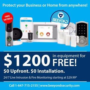 Free Beeyond Security Alarm System! 3 months Free! $0 Upfront!
