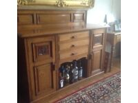 Edwardian Sideboard and matching side table