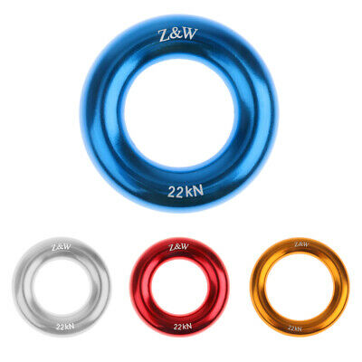 22kn Rock Climbing Rappel Ring Bail-outs Rigging Equipment Blue 5cm