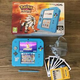 Nintendo Pokemon Limited Edition 2DS 35 Games Bundle Mint