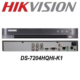 HIKVISION 4 CHANNEL CCTV DVR WITH 500 GB HARD DRIVE 1080P FULL HD TURBO SYSTEM 3MP UK DS-7204HQHI-K1