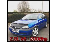 Vauxhall Corsa 2.5 V6 C25XE 200bhp sleeper