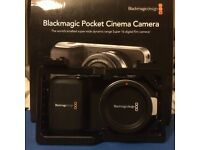 BMPCC Black Magic Pocket Cinema Camera w/ Smallrig Cage + Camdiox EF Focal Reducer