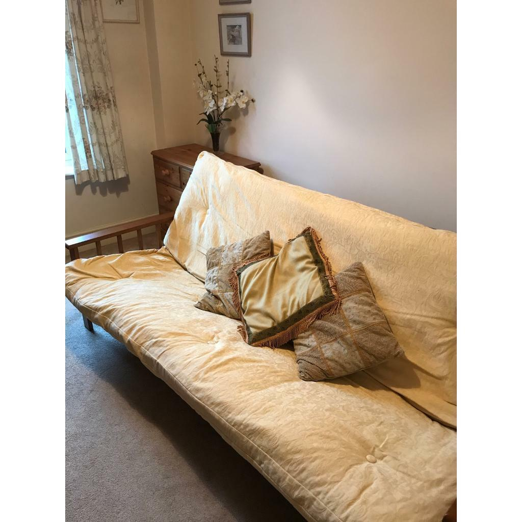 Wooden Base Double Futon Bed In