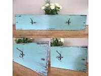 Rustic wooden coat hooks