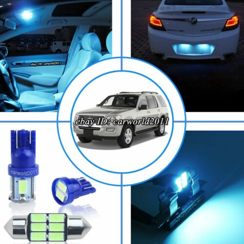 18x Aqua Ice Blue LED Interior Dome Light Package Kit For Ford Explorer 2002~10