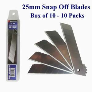 25mm Snap Off Blade 10 Packs - Min 100 Blades - Bulk Discounts