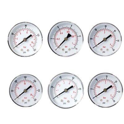 Air Water Pressure Gauge 18 Bsp Thread Manometer Y50z8 Center Back Mount