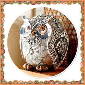 Silver Rose Owl