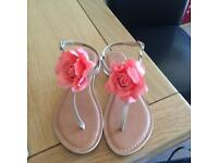 Size 6 New Look Flip Flops