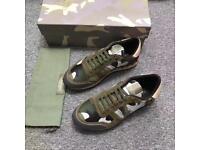 Valentino Rockstud Sneakers (Green)