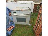 A hob and oven for sale