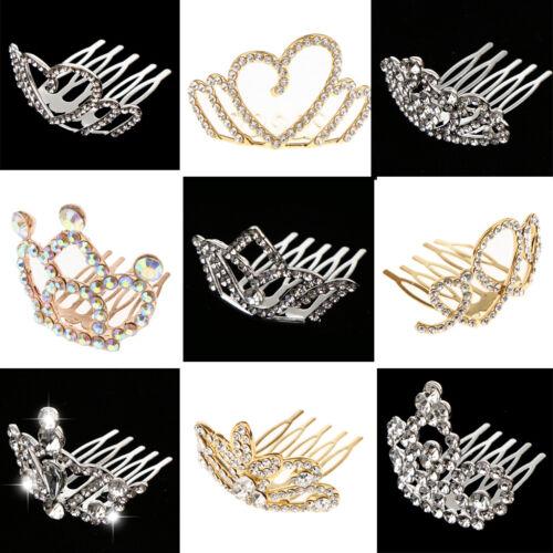 Girls Princess Mini Tiara Crown with Comb Headwear Accessori