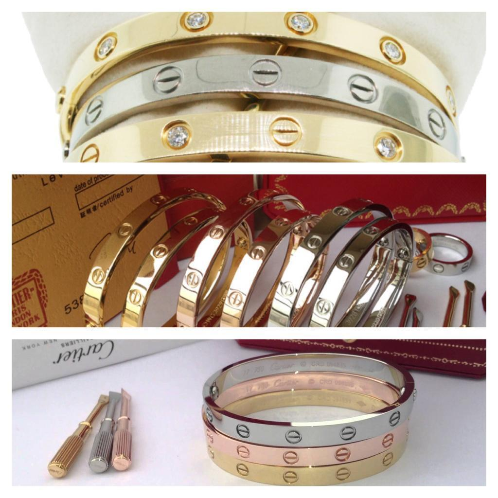 Love style Bracelets all shades two sizes
