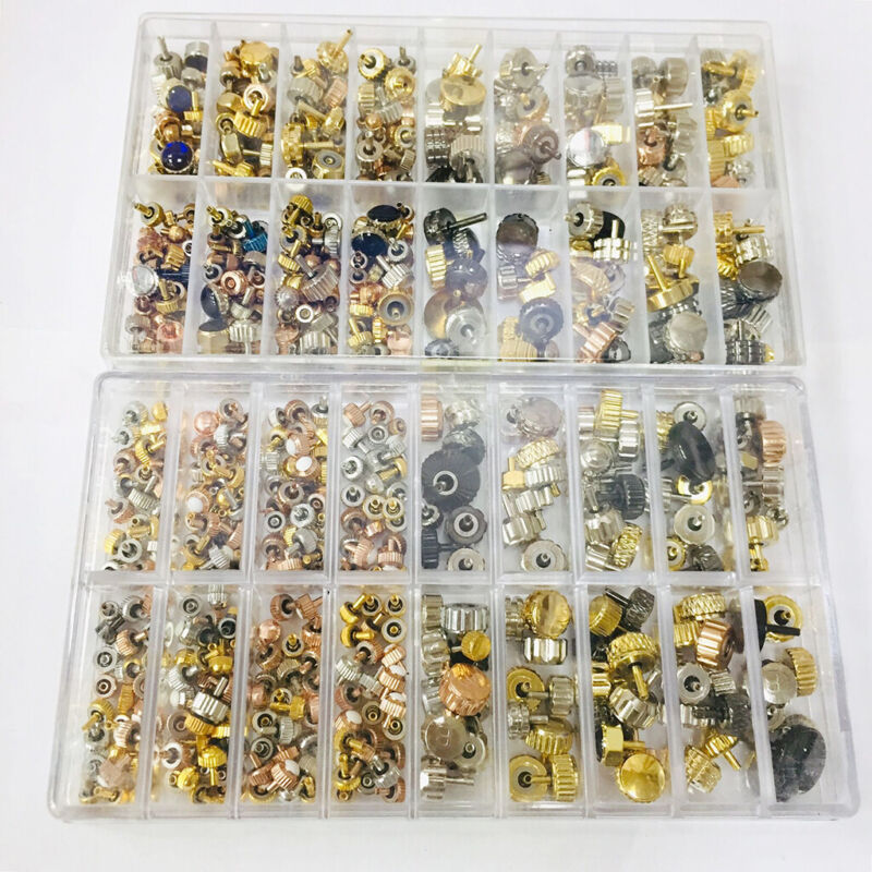 Crown Repair Parts Watch Head Assortment Accessories with Box