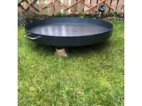 [New] Fire Pit/Log, BBQ Charcoal, Strong and Durable 80cm - Black Steel - Elegant Design,
