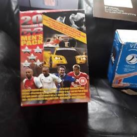 20programmes on DVD men's pack football boxing motor sports action films standup