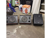 Stage wedge speaker monitor system