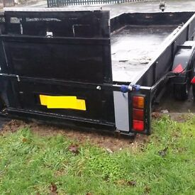 17ft Trailer twin axle with winch