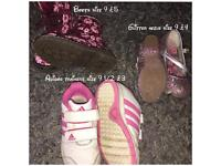 Selction of girls shoes