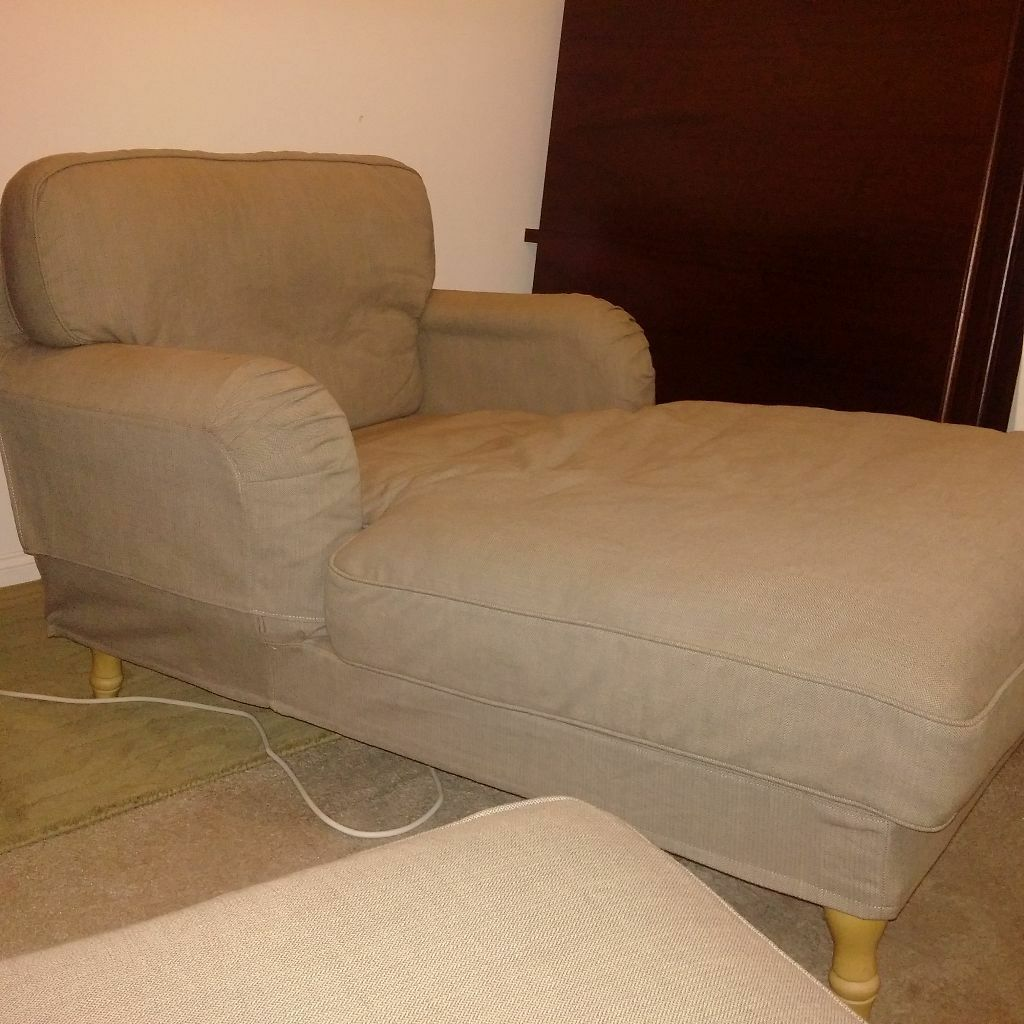 Ikea stocksund chaise longue sofa chair in leigh on sea for Chaise longue ikea uk
