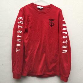 Trapstar red long sleeve top size small