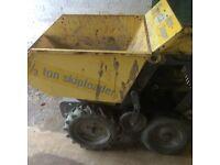 4 wheel drive petrol skip loader