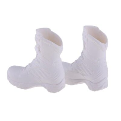 1:6 White Shoes Models Combat Boots for 12'' HT/Phicen/Cy Girls Figure Dolls