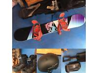 DC Nerf Snowboard plus Boots, Shovel and Helmet for sale
